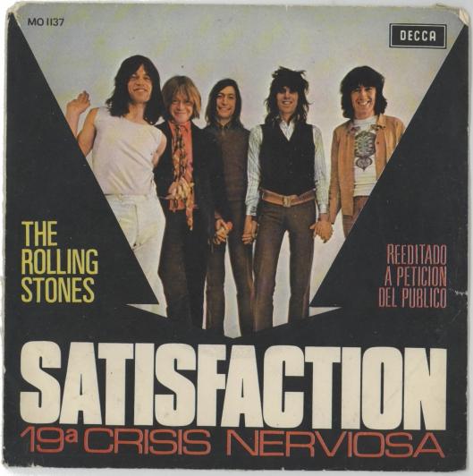 Portada original edición española de Satisfaction. 1965